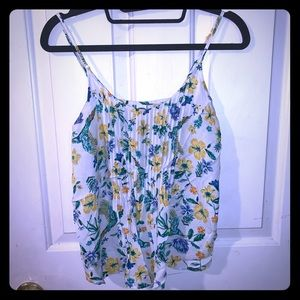 Old Navy Tops - Old navy floral/bird pattern tank top